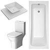 Lazio Modern Bathroom Suite profile small image view 1