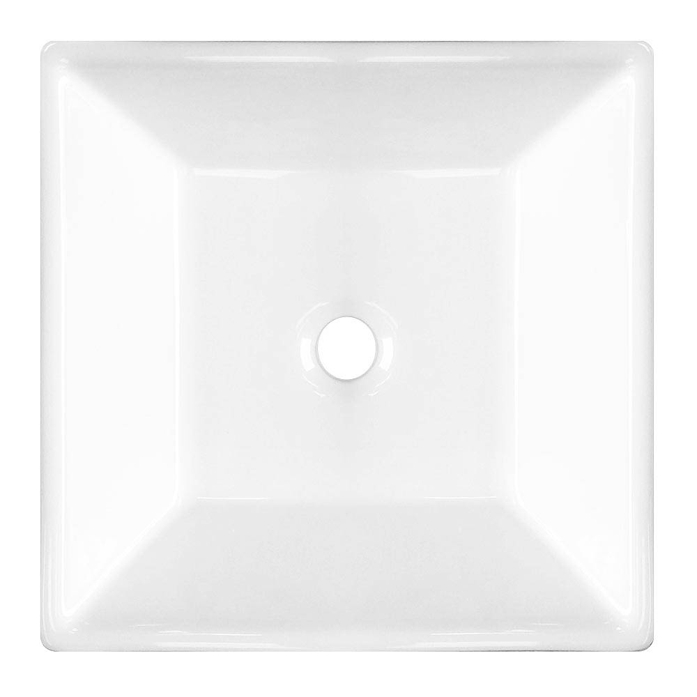 Lazio Square Counter Top Basin - 0 Tap Hole - 400 x 400mm profile large image view 3