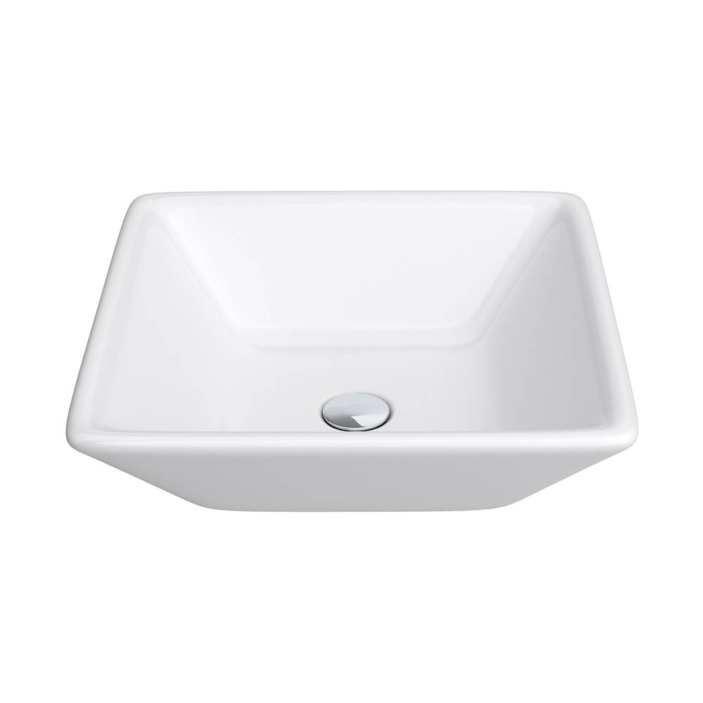 Lazio Square Counter Top Basin - 0 Tap Hole - 400 x 400mm Large Image