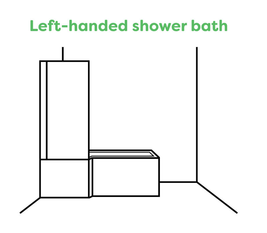 A Left Handed Shower Bath
