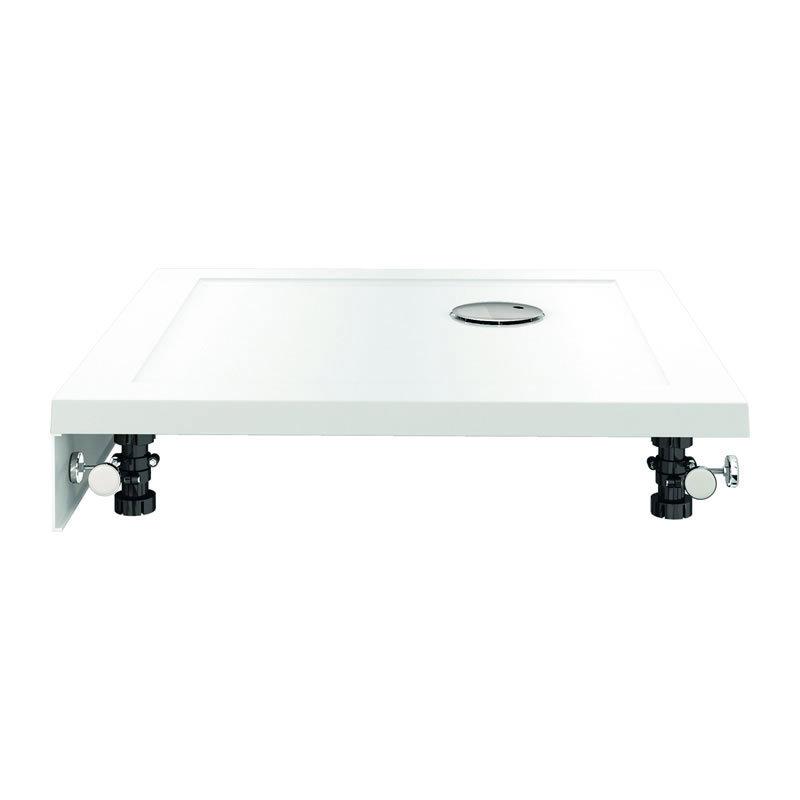 Zamori - 35mm Pentangle Shower Tray with Leg & Panel Set - Various Size Options profile large image view 2