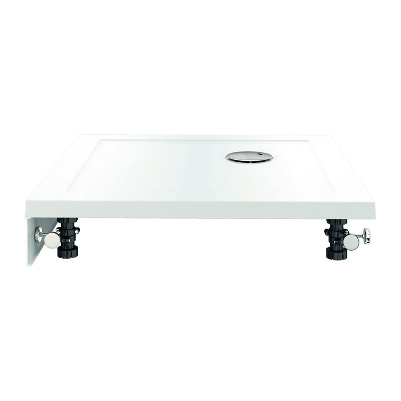 Zamori - 35mm Square Shower Tray with Upstand and Leg & Panel Set - Various Size Options profile large image view 2