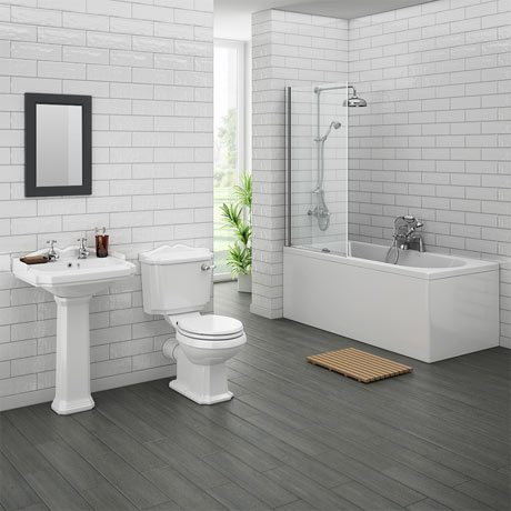 Legend traditional bathroom suite at victorian plumbing uk Bathroom design winchester uk