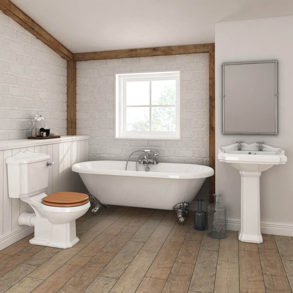 Legend traditional roll top bathroom suite at victorian for Bathroom suites