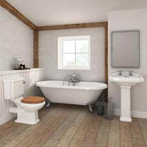 Legend Traditional Roll Top Bathroom Suite (1695mm) Medium Image