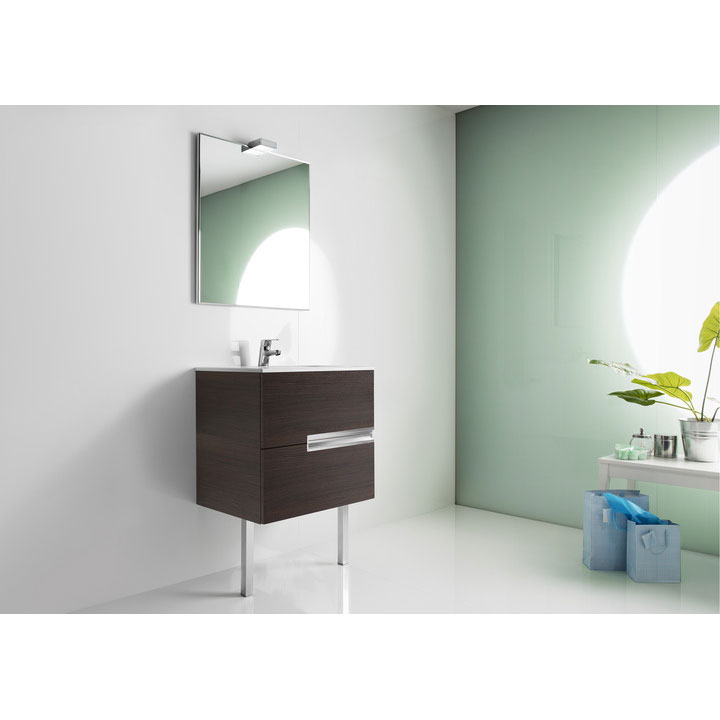 Roca - Victoria-N Unik 2 Drawer Vanity Unit with 600mm Basin - 4 x Colour Options profile large image view 3