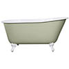 JIG Lille 0TH Cast Iron Roll Top Bath (1450x700mm) with Feet profile small image view 1