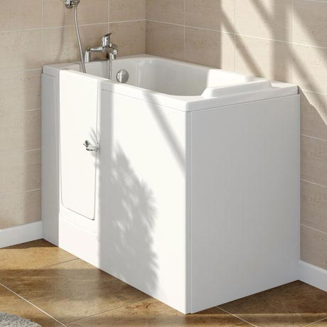 Milton Walk In 1210mm Deep Soak Bath Inc. Front + End Panels