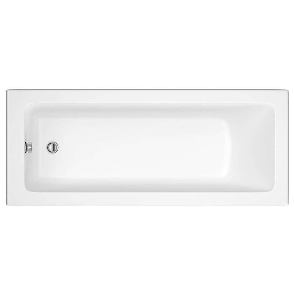 Linton Square 1700 x 700 Single Ended Acrylic Bath with Waste and Front Panel Feature Large Image
