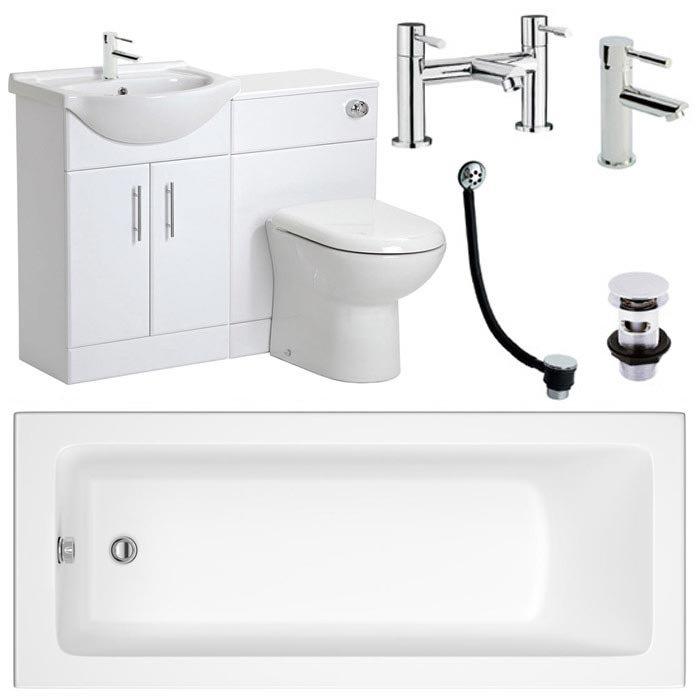 Linton Vanity Unit Complete Bathroom Package - 1700mm profile large image view 1