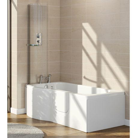 Lockwood Easy Access 1675mm P Shaped Bath Inc. Screen + Front Panel