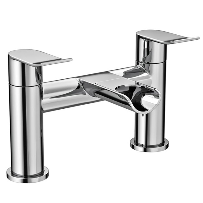 Luna Waterfall Bath Filler - Chrome Large Image