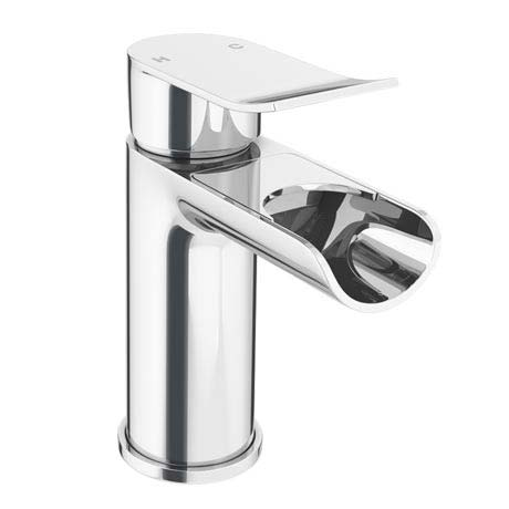 Luna Waterfall Mono Basin Mixer + Waste - Chrome