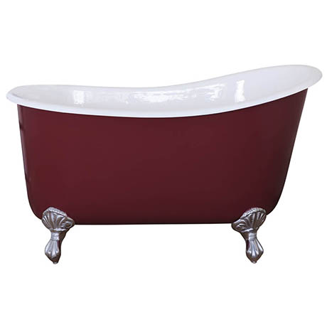 JIG Lyon Cast Iron Roll Top Slipper Bath (1370x730mm) with Feet
