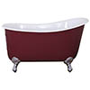 JIG Lyon Cast Iron Roll Top Slipper Bath (1370x730mm) with Feet profile small image view 1