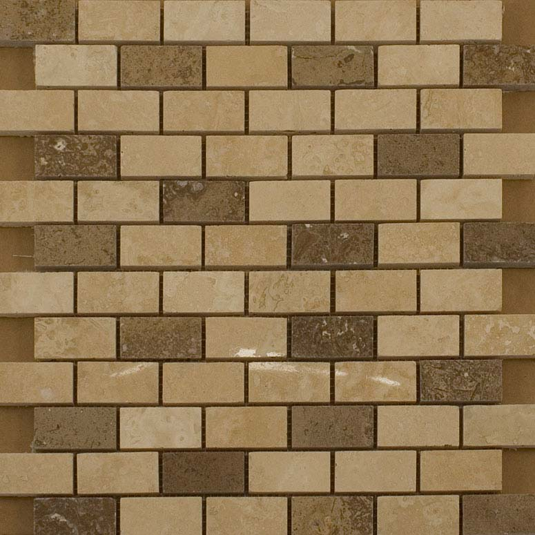 BCT Tiles Naturals Stone/Glass/Metal/Pearl Mix Mosaic Tiles - 300 x 300mm - M000113 Large Image