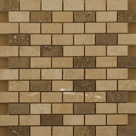 BCT Tiles Naturals Stone/Glass/Metal/Pearl Mix Mosaic Tiles - 300 x 300mm - M000113