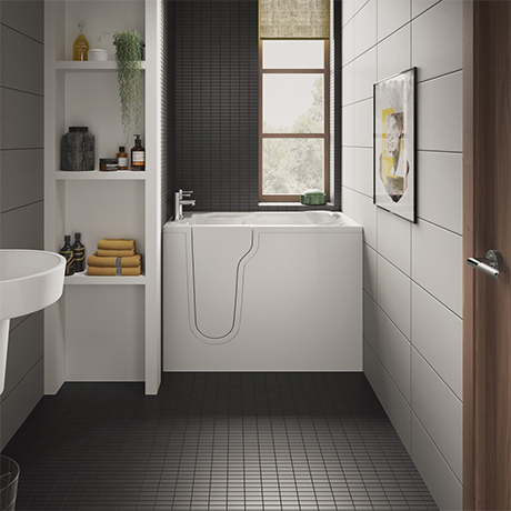 Milton Luxury Mini Walk In 1060mm Easy Access Deep Soak Bath inc. Front + End Panels