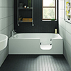 Milton Luxury Walk In 1700mm Bath inc. Front + End Panels profile small image view 1