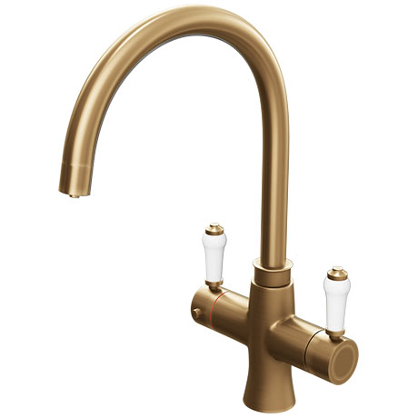 Marple Traditional Brushed Gold Instant Boiling Water Kitchen Tap (Includes Tap, Boiler + Filter)