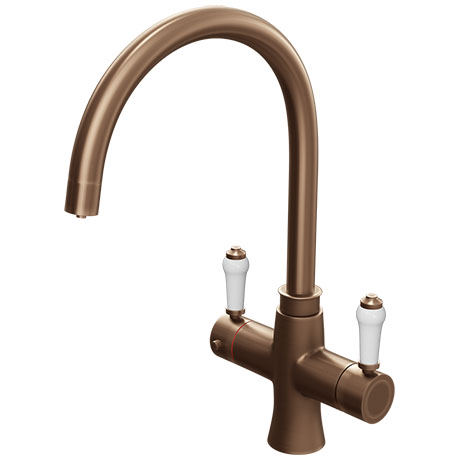 Marple Traditional Brushed Copper Instant Boiling Water Kitchen Tap (Includes Tap, Boiler + Filter)