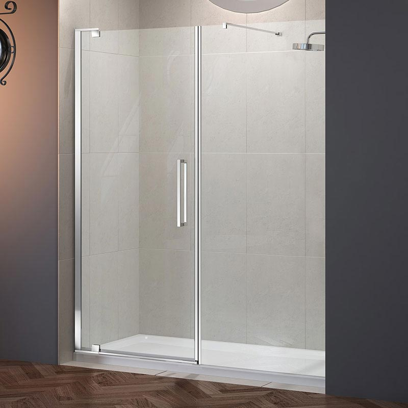 Merlyn 10 Series Pivot Shower Door & Inline Panel profile large image view 1