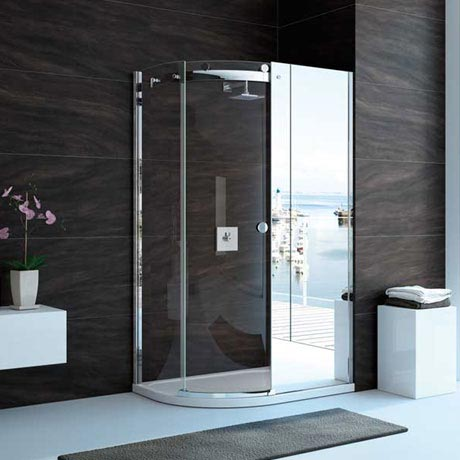 Merlyn 10 Series Mirror 1 Door Offset Quadrant Enclosure - (1200 x 800mm - Left Hand)