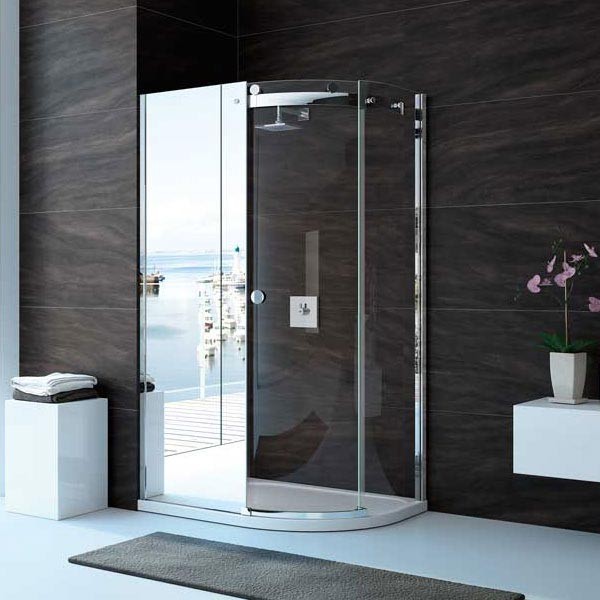 Merlyn 10 Series Mirror 1 Door Offset Quadrant Enclosure - (1200 x 900mm - Right Hand) Large Image