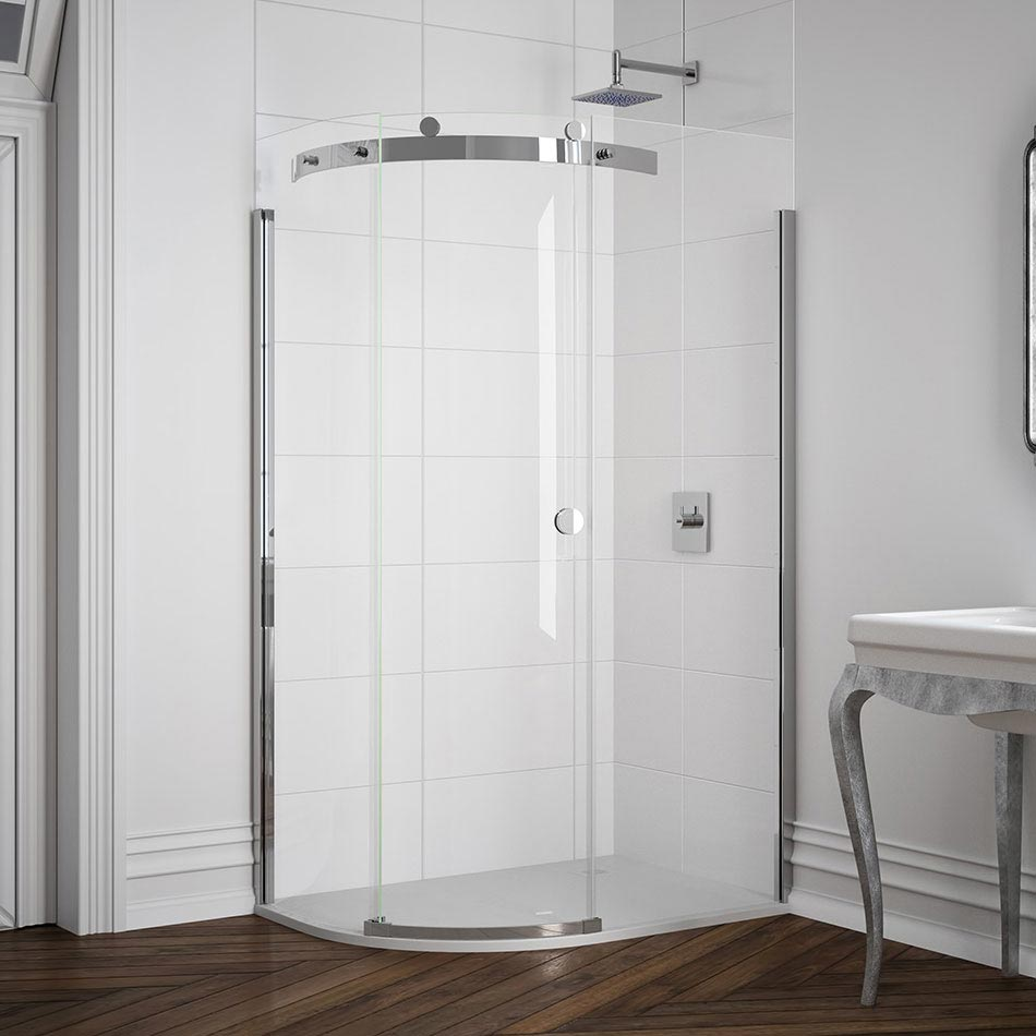 Merlyn 10 Series 1 Door Offset Quadrant Enclosure - (1400 x 800mm - Left Hand) profile large image view 1