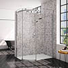 Merlyn 10 Series 1000 x 800mm LH 1 Door Offset Quadrant Enclosure profile small image view 1