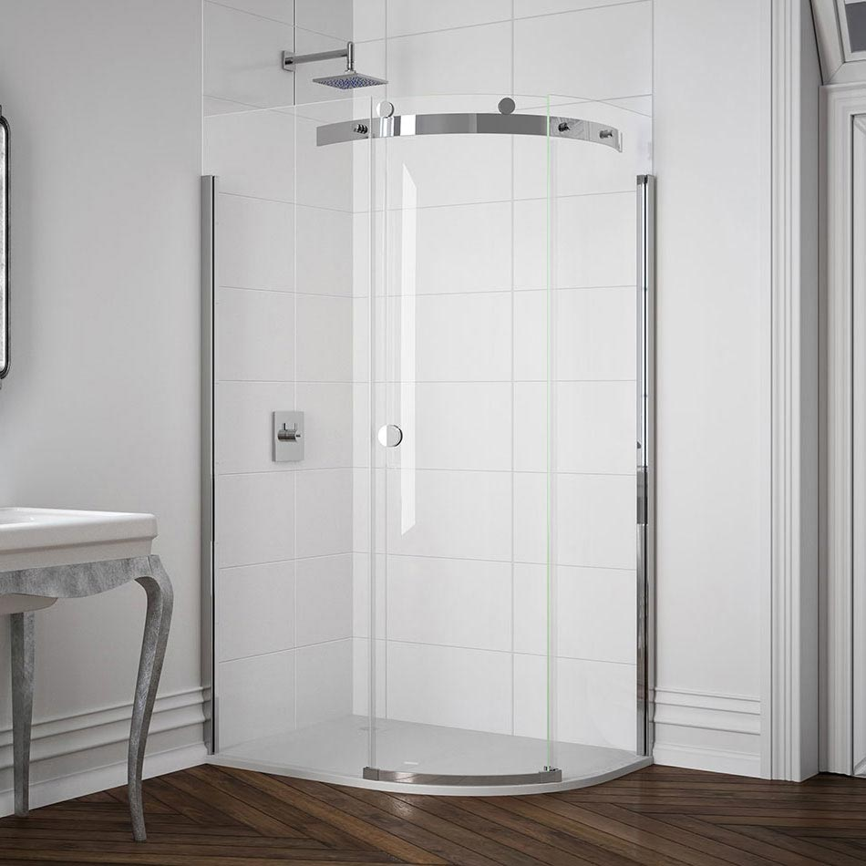 Merlyn 10 Series 1 Door Offset Quadrant Enclosure - (1400 x 800mm - Right Hand) profile large image view 1