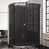 Merlyn 10 Series 1200 x 900mm LH Smoked Black Glass 1 Door Offset Quadrant Enclosure profile small image view 1