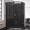 Merlyn 10 Series 1200 x 900mm RH Smoked Black Glass 1 Door Offset Quadrant Enclosure profile small image view 1