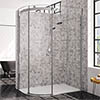 Merlyn 10 Series 1200 x 800mm LH 1 Door Offset Quadrant Enclosure profile small image view 1