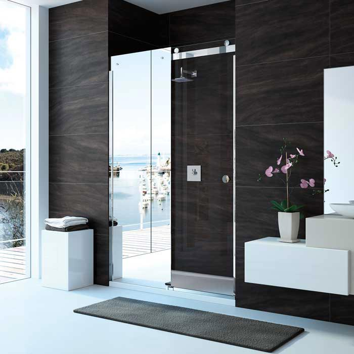 Merlyn 10 Series Mirror Sliding Door - Left Hand profile large image view 1