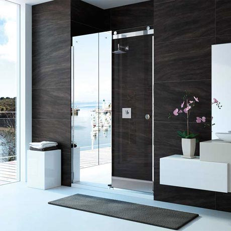Merlyn 10 Series Mirror Sliding Door - Left Hand