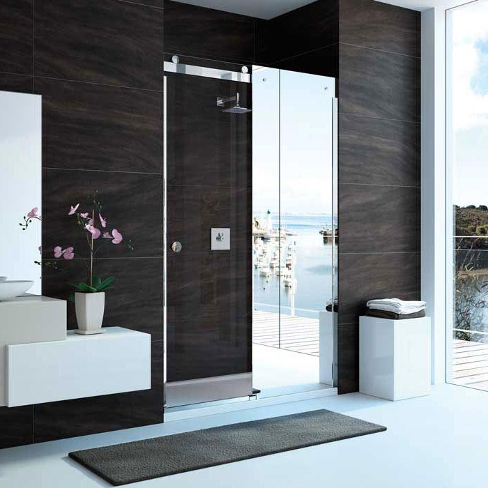 Merlyn 10 Series Mirror Sliding Door - Right Hand profile large image view 1