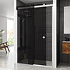 Merlyn LH 10 Series Smoked Black Glass Sliding Door profile small image view 1