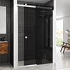 Merlyn RH 10 Series Smoked Black Glass Sliding Door profile small image view 1