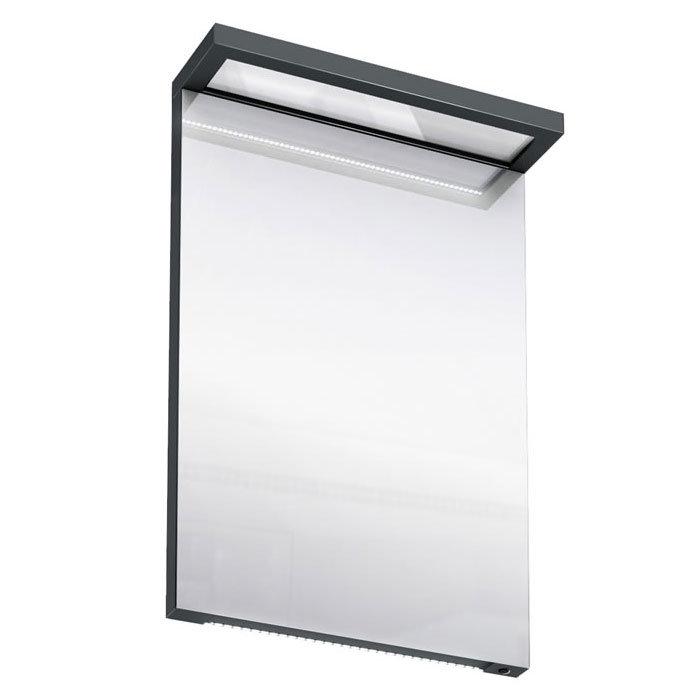 Aqua Cabinets - 500mm Wide Illuminated LED Mirror - Black - M10B Large Image