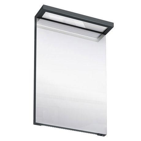 Aqua Cabinets - 500mm Wide Illuminated LED Mirror - Black - M10B