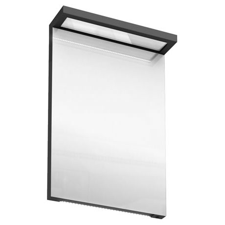 Aqua Cabinets - 500mm Wide Illuminated LED Mirror - Anthracite Grey - M10G
