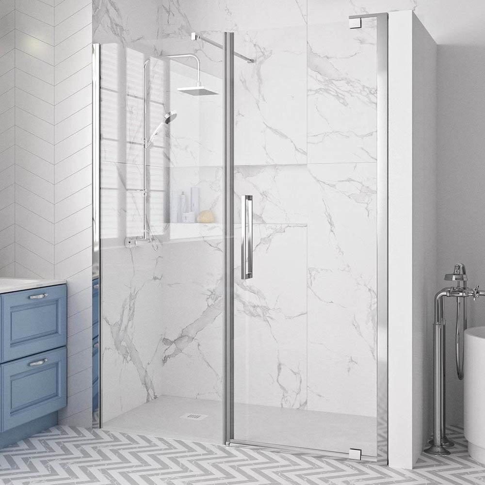 Merlyn 10 Series Pivot Shower Door & Inline Panel