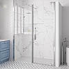 Merlyn 10 Series Pivot Shower Door & Inline Panel profile small image view 1