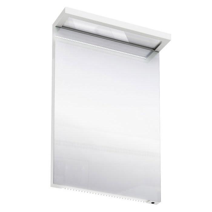 Aqua Cabinets - 500mm Wide Illuminated LED Mirror - White - M10W Large Image