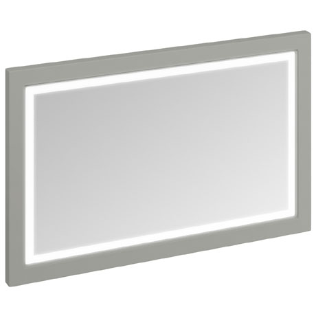 Burlington Framed 120 Mirror with LED Illumination - Dark Olive