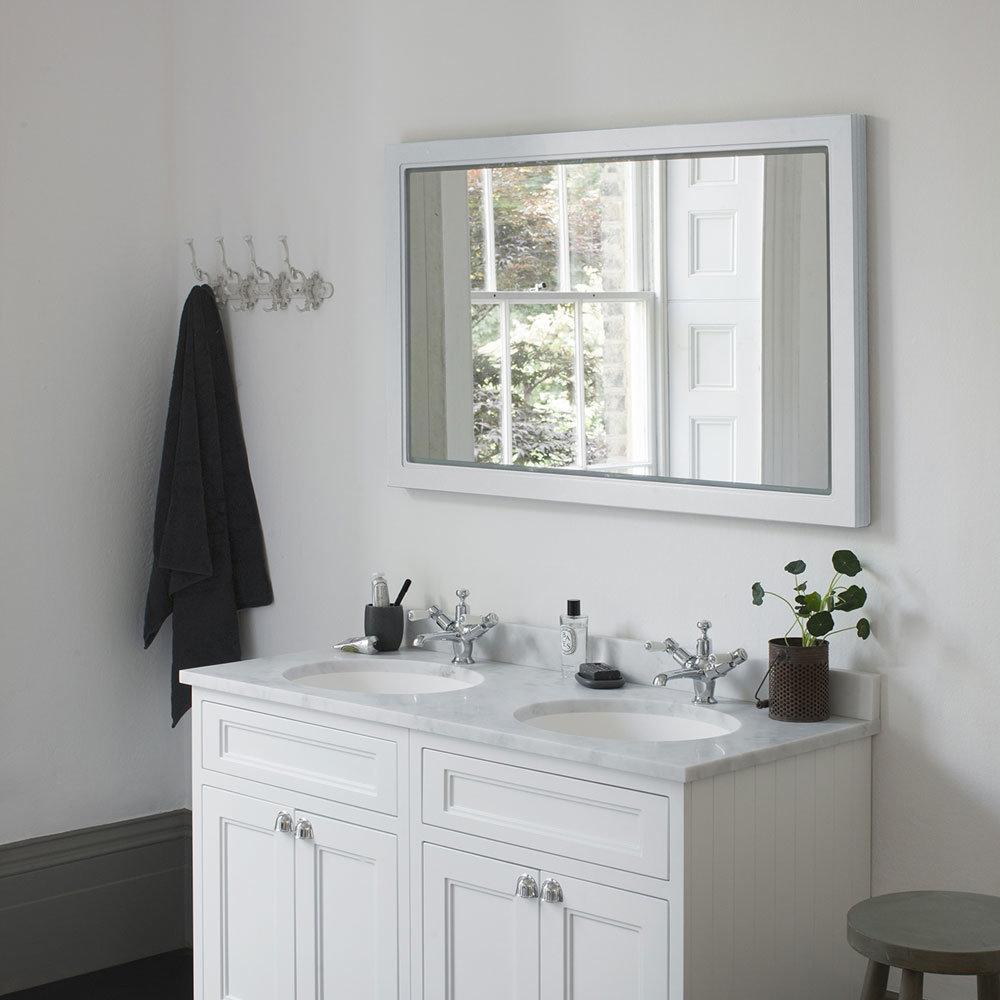 Burlington Framed 120 Mirror with LED Illumination - Dark Olive profile large image view 2