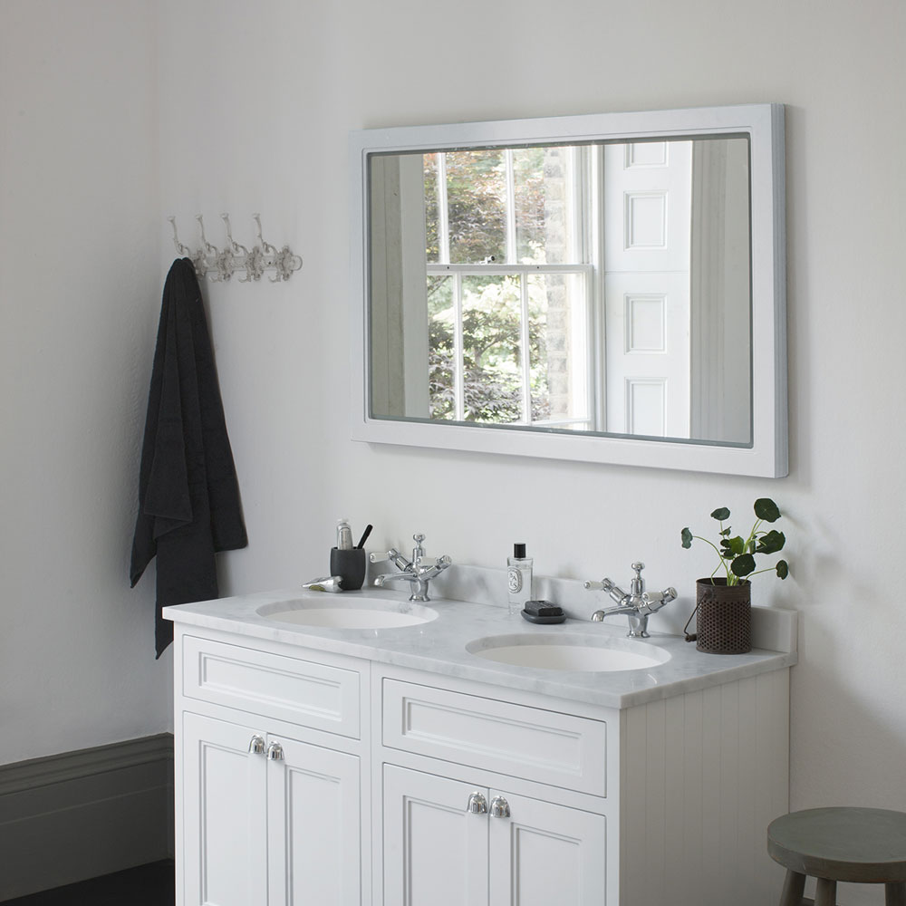 Burlington Framed 120 Mirror with LED Illumination - Sand profile large image view 2