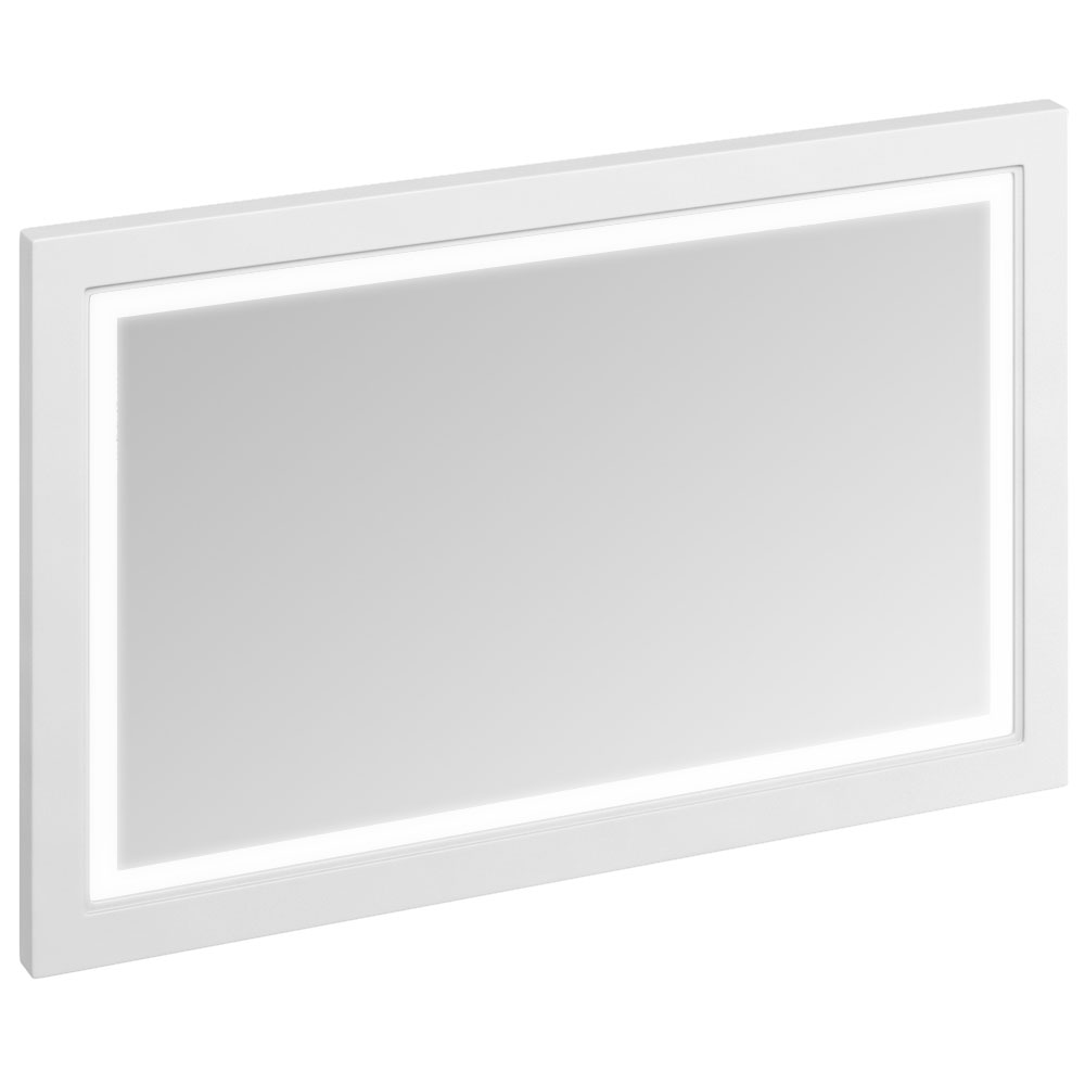 Burlington Framed 120 Mirror with LED Illumination - Matt White