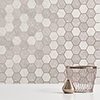 Fine Decor Metro Hex Multi Rose Gold Wallpaper - M1507 profile small image view 1